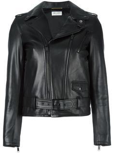 кожаная байкерская куртка Saint Laurent