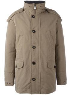 пуховое пальто с капюшоном Peuterey