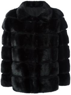 короткое норковое пальто на пуговицах Simonetta Ravizza