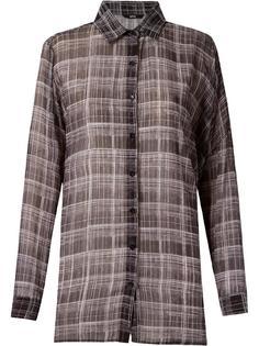 check sheer shirt Uma | Raquel Davidowicz