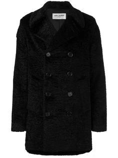 бархатное пальто Saint Laurent