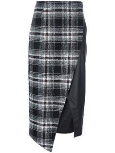 асимметричная клетчатая юбка Gaelle Bonheur