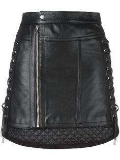 мини-юбка со шнуровкой сбоку Diesel Black Gold