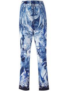 укороченные брюки с принтом Roberto Cavalli