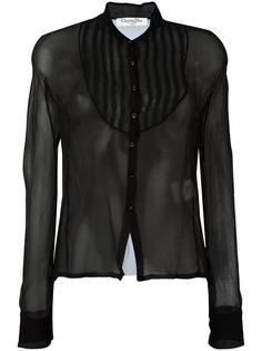 прозрачная блузка на пуговицах Christian Dior Vintage