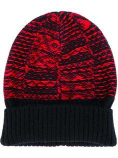 шапка с узором-интарсией Maison Margiela