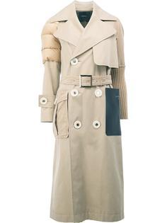 пальто миди со стегаными плечами Undercover