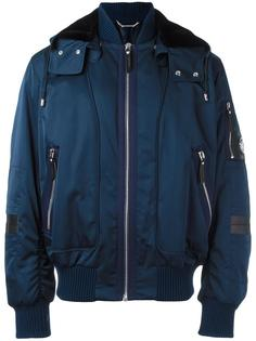 куртка-бомбер с капюшоном Versace