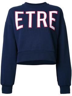 укороченная толстовка с логотипом Être Cécile