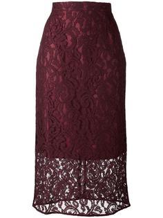 кружевная юбка длины миди с цветочным узором Gaelle Bonheur