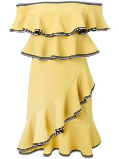 платье мини с оборками 'Courtside' Rebecca Vallance