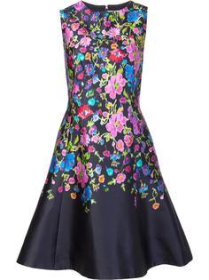 расклешенное платье с цветочным принтом Oscar de la Renta