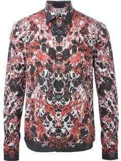 рубашка с абстрактным принтом   Alexander McQueen