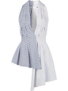 асимметричная блузка с V-образным вырезом Adam Lippes