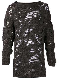 свитер с дырками Giovanni Cavagna