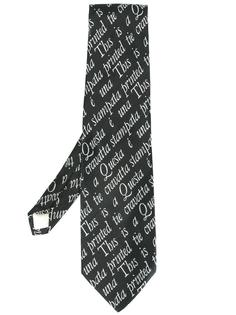 галстук с графическим принтом Moschino Vintage