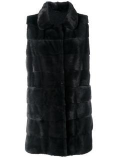 меховое пальто без рукавов Arma