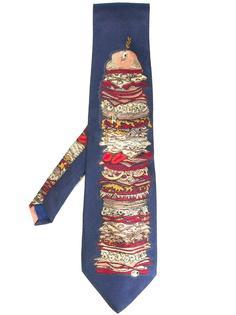 галстук с орнаментом Moschino Vintage