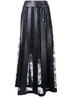 длинная кружевная юбка Christopher Kane