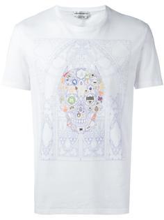 футболка с принтом черепа Alexander McQueen