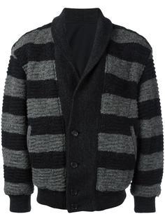 двухсторонняя полосатая куртка Issey Miyake Vintage