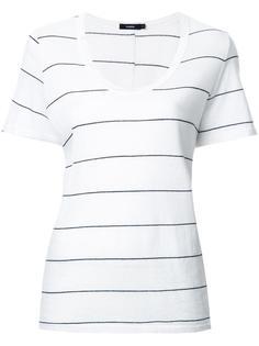 полосатая футболка с вырезом-ковш Bassike