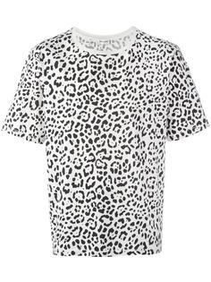 футболка с леопардовым узором Saint Laurent