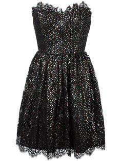 платье без бретелек со звездами Saint Laurent