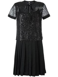 сетчатое платье с пайетками Cavalli Class