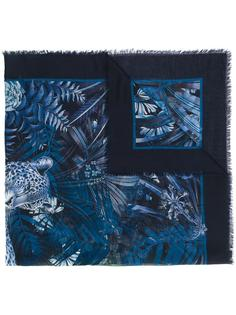 шарф с леопардовым принтом Salvatore Ferragamo