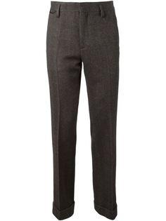 твидовые брюки с узором елочкой Marc Jacobs
