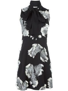 жаккардовое платье с пальмовыми листьями Chloé