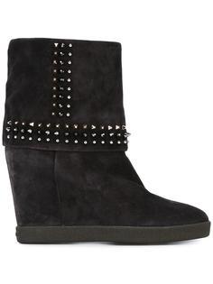 ботинки с заклепками на скрытой платформе Le Silla