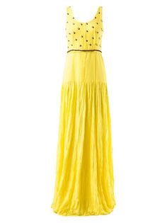 embellished maxi dress Emannuelle Junqueira