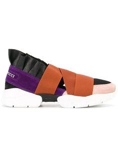 кроссовки с панельным дизайном  Emilio Pucci