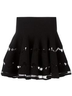плиссированная юбка с подолом-годе Alaïa Vintage