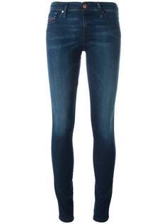 джинсы скинни с потертой отделкой Diesel