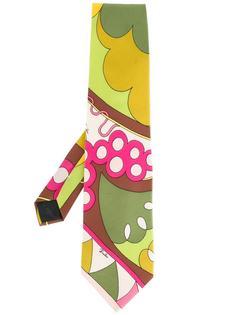 галстук с графическим принтом Emilio Pucci Vintage