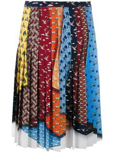 юбка 'King' с узорами из животных Mary Katrantzou