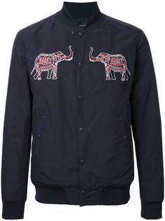куртка-бомбер с нашивками-слонами Yoshio Kubo