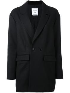 укороченное двубортное пальто Fad Three