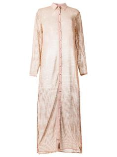 sheer panel beach dress Adriana Degreas