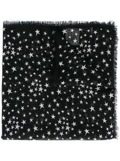 большой шарф с рисунком 'Étoiles' Saint Laurent