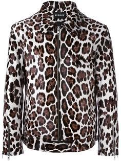 леопардовая куртка из телячьей шерсти Misbhv