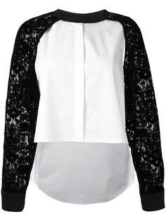 рубашка с кружевными рукавами-реглан DKNY