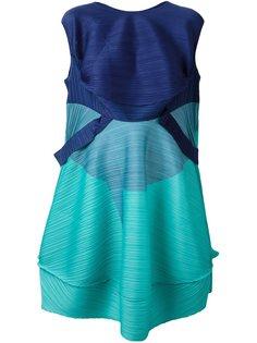 объемное платье без рукавов Pleats Please By Issey Miyake