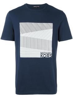 футболка с квадратным принтом Michael Kors