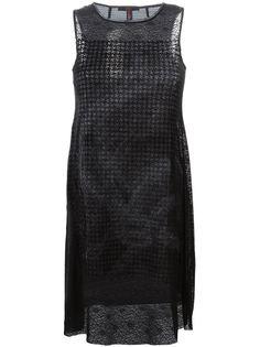 платье шифт без рукавов High