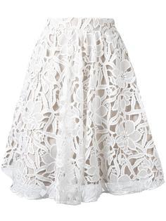 юбка с цветочным кружевом Alice+Olivia