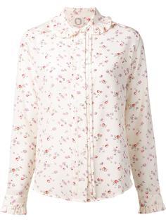 floral print ruffled blouse Ines De La Fressange